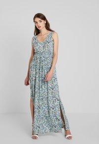 JDY - JDYLOGAN DRESS - Długa sukienka - harbor gray/multi color - 0