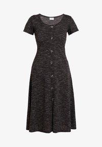 JDY - JDYLAUREN BUTTON DRESS - Jerseyjurk - dark grey melange - 5