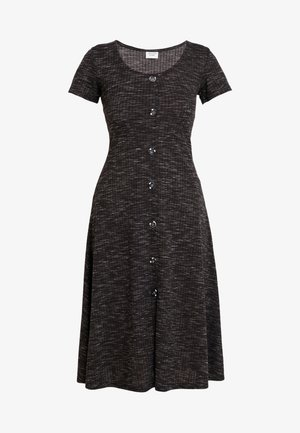 JDYLAUREN BUTTON DRESS - Jersey dress - dark grey melange