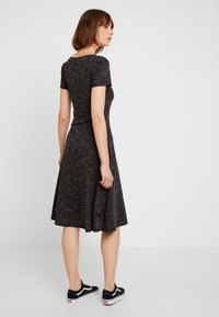 JDY - JDYLAUREN BUTTON DRESS - Jersey dress - dark grey melange - 3