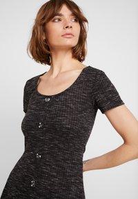 JDY - JDYLAUREN BUTTON DRESS - Jersey dress - dark grey melange - 4