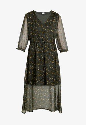 JDYFREYA 3/4 DRESS - Denní šaty - forest night/gold