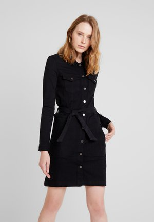 JDYSANNA SHIRT DRESS - Denimové šaty - black denim