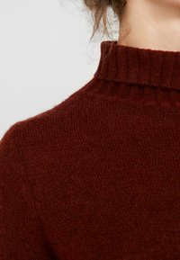 JDY - JDYDEBBIE ROLLNECK DRESS - Abito in maglia - dark red - 7