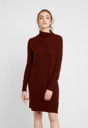 JDYDEBBIE ROLLNECK DRESS - Gebreide jurk - dark red
