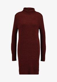 JDY - JDYDEBBIE ROLLNECK DRESS - Abito in maglia - dark red - 6