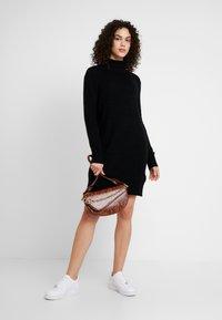 JDY - JDYDEBBIE ROLLNECK DRESS - Jumper dress - black - 1