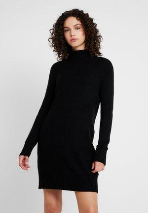 JDYDEBBIE ROLLNECK DRESS - Abito in maglia - black