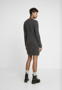 JDY - JDYNINE O NECK DRESS - Strikket kjole - dark grey