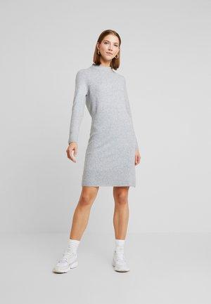 JDYMEZA DRESS - Gebreide jurk - light grey melange