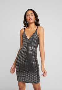 JDY - Vestido de cóctel - black/silver - 0