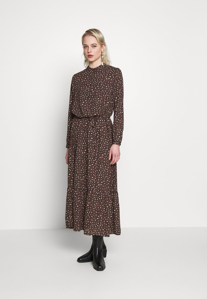 JDY - JDYRICCI DRESS - Robe longue - chicory coffee/leo