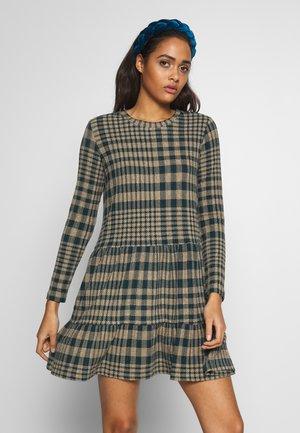 JDYBRIENNE DRESS - Jumper dress - deep teal/travatine check