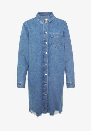 JDYSANSA DRESS RAW  - Denim dress - medium blue denim