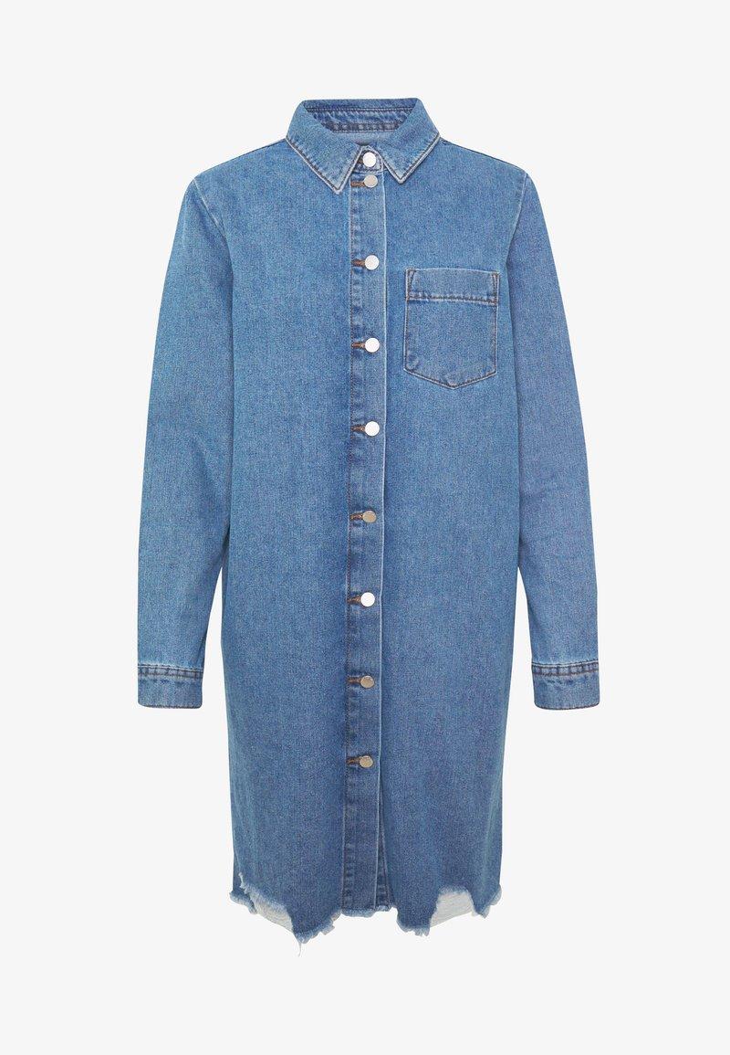 JDY JDYSANSA DRESS RAW - Vestito di jeans - medium blue denim Bpw2u6 nuovo arrivo