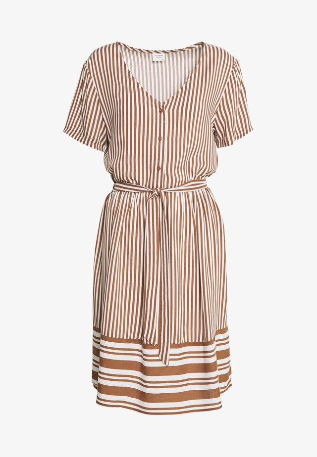 JDYTIFFANY DRESS - Blousejurk - argan oil/cloud dancer
