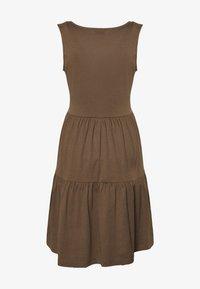 JDY - JDYFENNA LIFE V NECK DRESS - Jersey dress - dark brown - 1
