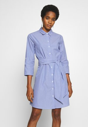 JDYHALL DRESS - Shirt dress - cloud dancer/blue