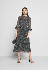 JDY - JDYSIBEL 3/4 - Denní šaty - mottled dark blue - 1