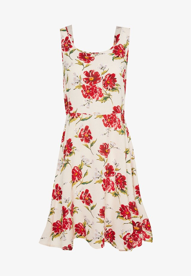 JDYSTARR LIFE STRAP DRESS - Korte jurk - shell/barbados cherry