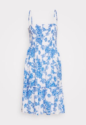 JDYSTARR LIFE STRAP SMOCK DRESS - Vestido informal - cloud dancer/princess blue flower