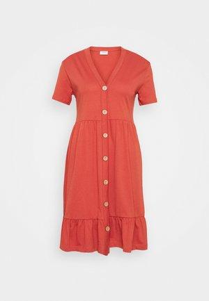 JDYBERRY LIFE BUTTONTHROUG DRESS - Jersey dress - bruschetta