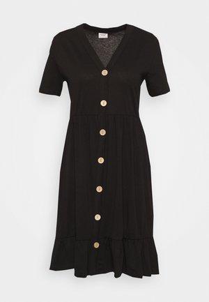 JDYBERRY LIFE BUTTONTHROUG DRESS - Jerseykjole - black