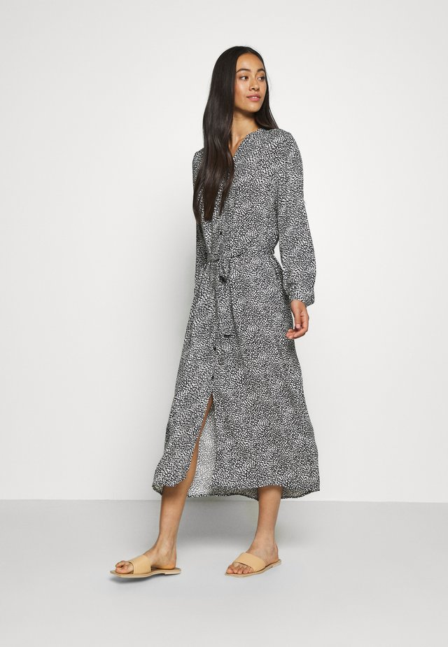 JDYPEARL MIDCALF DRESS  - Maxi-jurk - black/cloud dancer