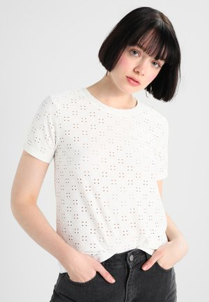 JRS NOOS - T-shirt con stampa - cloud dancer