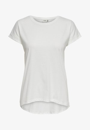 JDYLOUISA LIFEFOLD UP TOP - Basic T-shirt - off-white