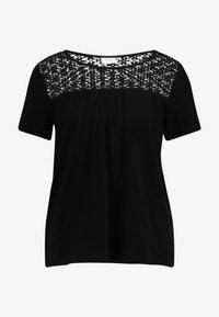 JDY - JDYCELINA TOP CROCHET - Print T-shirt - black - 5