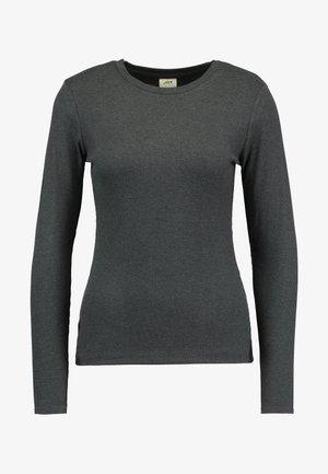 JDYCA MINI O-NECK - Camiseta de manga larga - dark grey melange