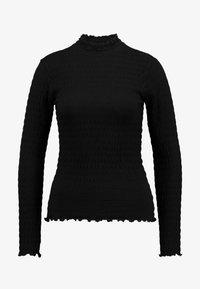 JDY - JDYSHILDA HIGHNECK - Bluzka z długim rękawem - black - 4