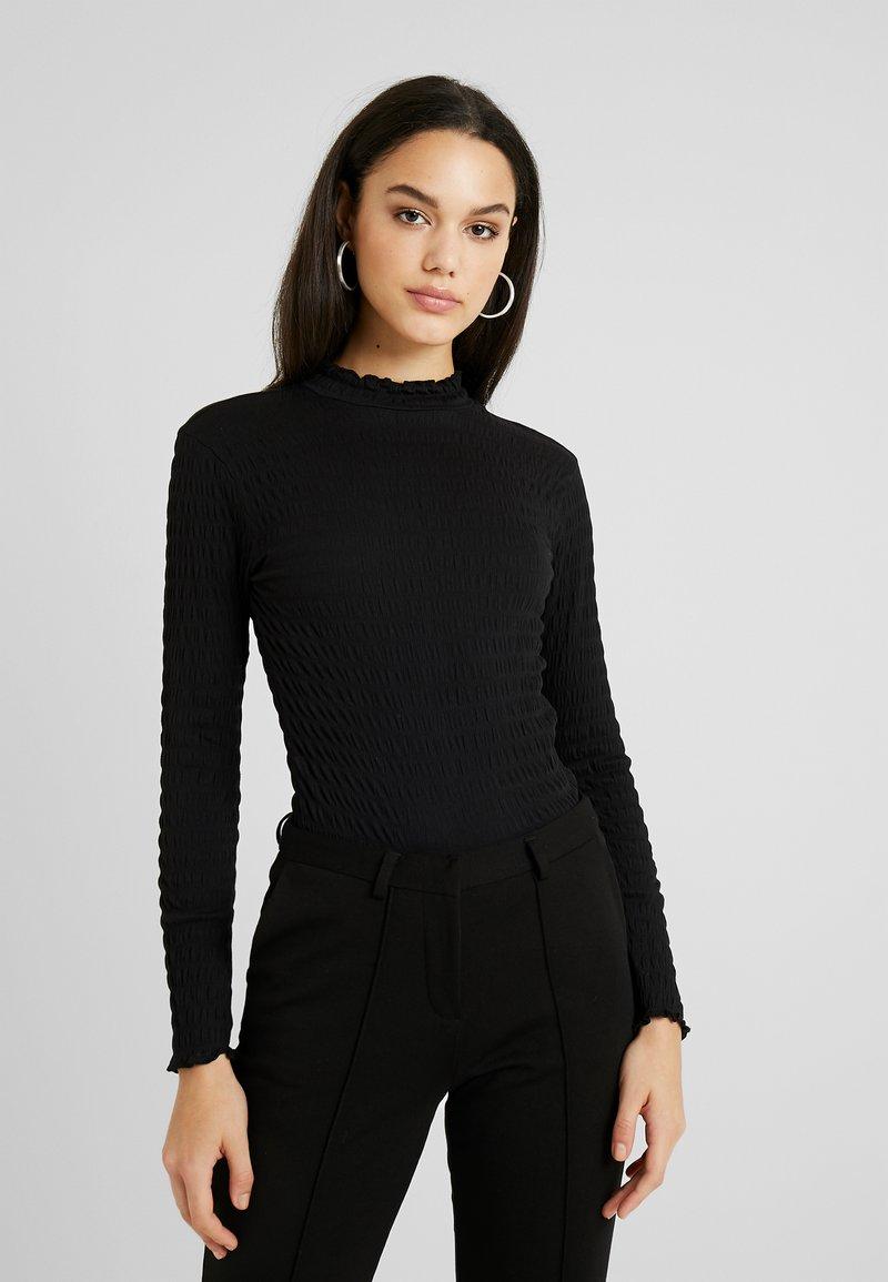 JDY - JDYSHILDA HIGHNECK - Bluzka z długim rękawem - black