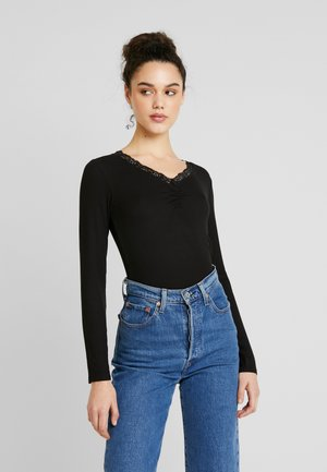 JDYMOLLY  V-NECK - Long sleeved top - black