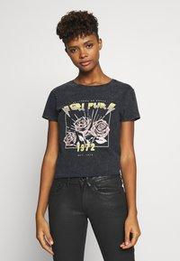 JDY - Camiseta estampada - black - 0