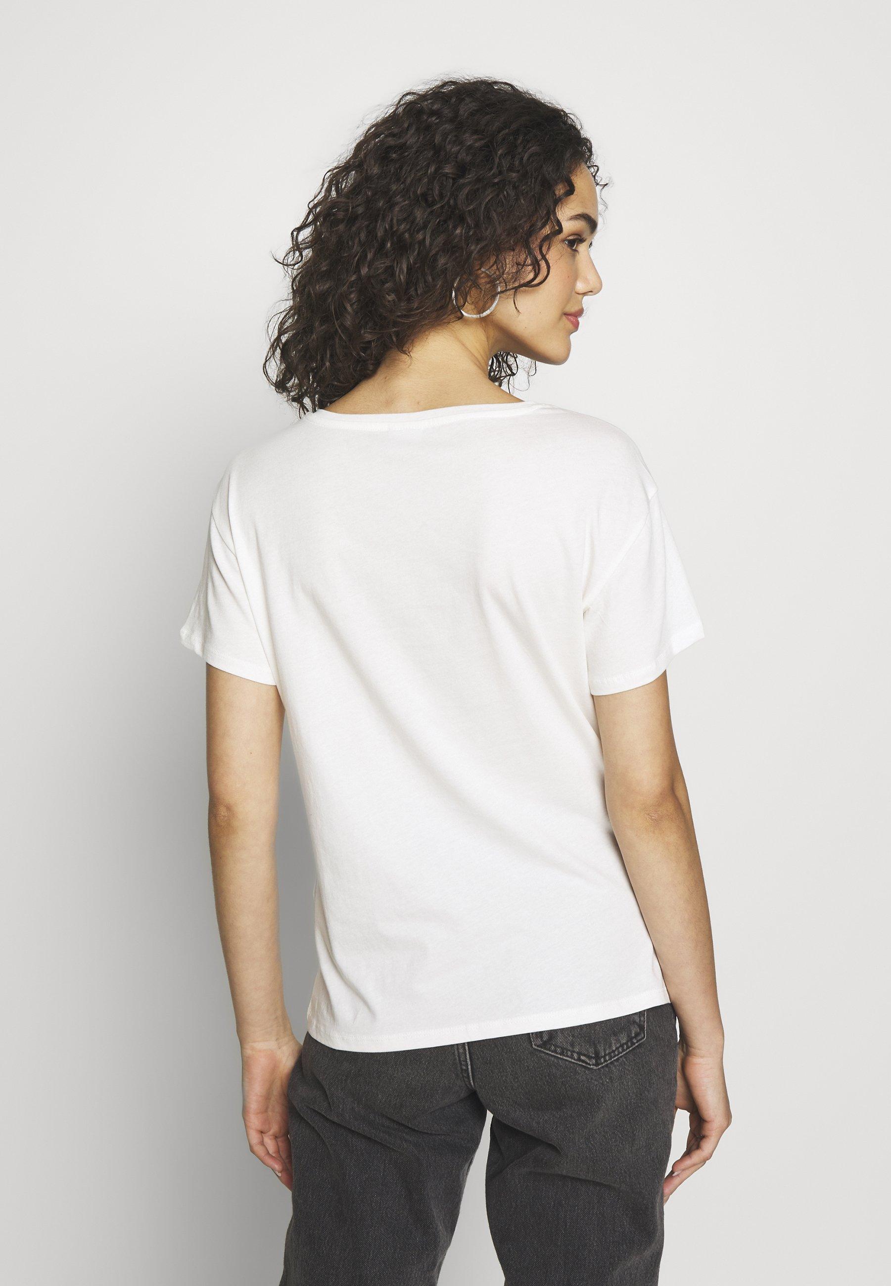 JDY JDYGLITTER LIFE  - T-shirts med print - cloud dancer