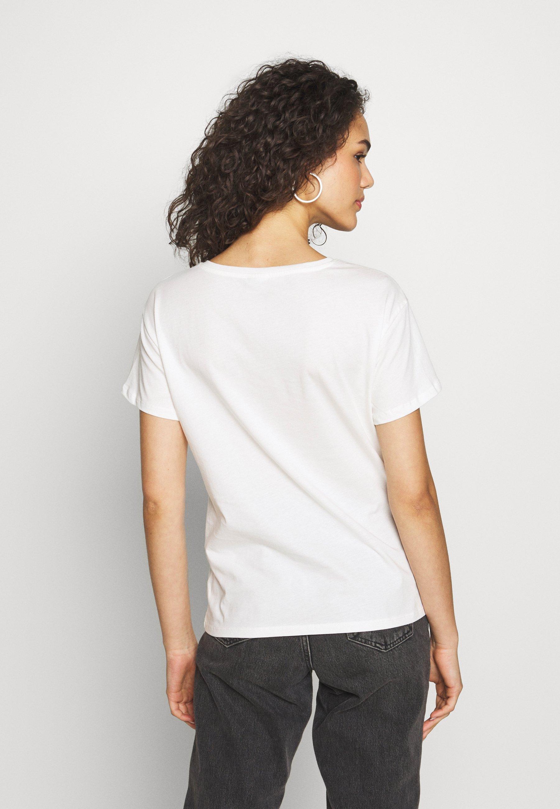 JDY JDYGLITTER LIFE  - T-shirts med print - cloud dancer/leo