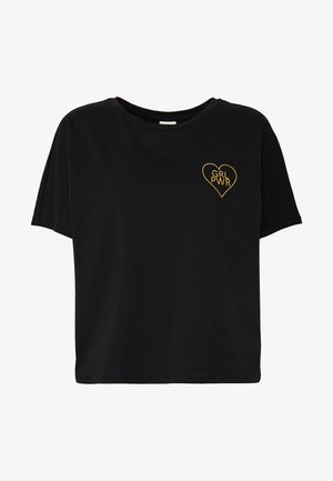 JDYGIRL POWER LIFE - T-shirt print - black
