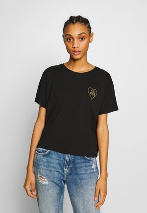 JDYGIRL POWER LIFE - T-shirt con stampa - black