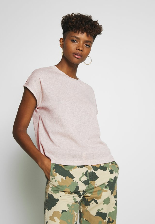 JDYLINE - Basic T-shirt - oatmeal melange