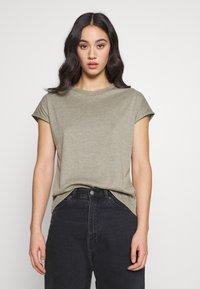 JDY - JDYLINE - T-shirt basic - martini olive/melange - 0