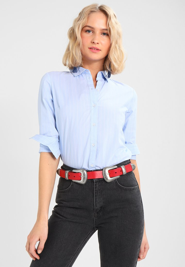 JDY - JDYMIO - Button-down blouse - blue/cloud dancer