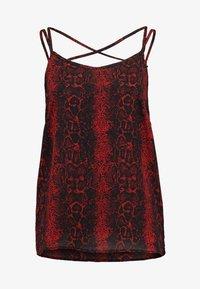 scarlet sage/black
