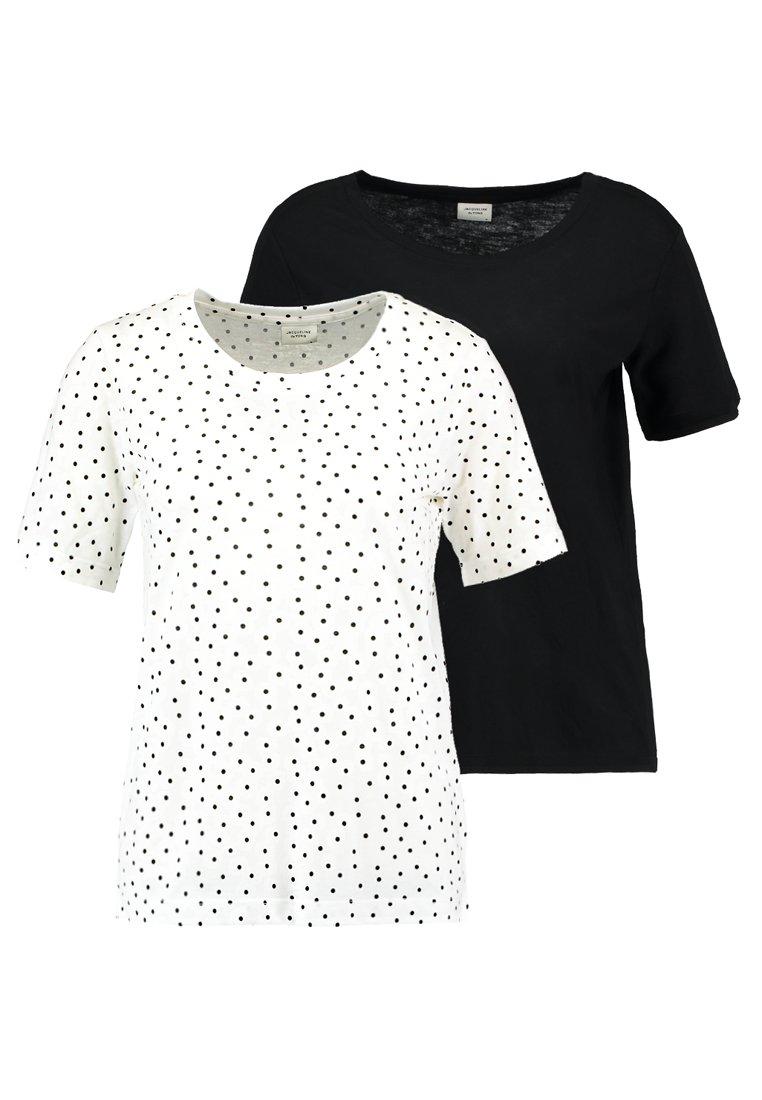 JDY - JDYFILIPPA 2PACK - T-shirt con stampa - cloud dancer