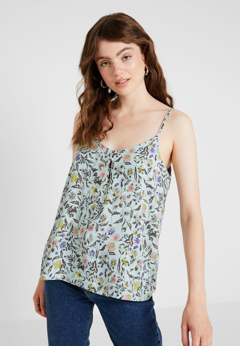 JDY - JDYLOGAN SINGLET - Bluse - harbor gray/multi color