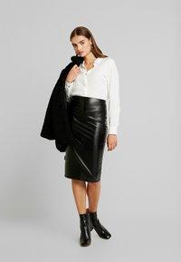 JDY - JDYOPAL - Button-down blouse - cloud dancer - 1