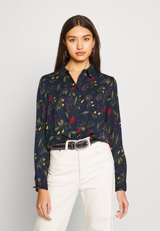 JDYMIE - Button-down blouse - sky captain/flowers