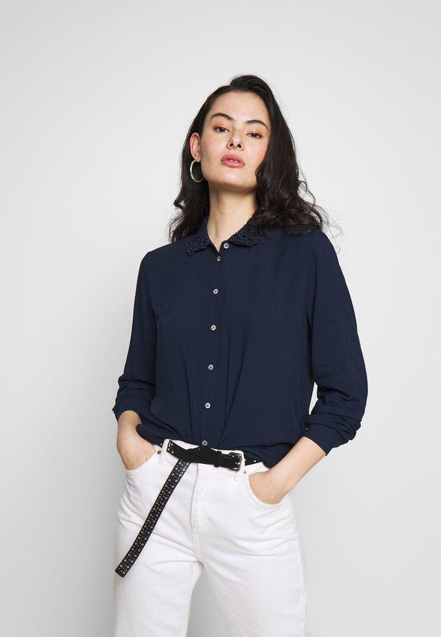 BLOUSE - Button-down blouse - navy