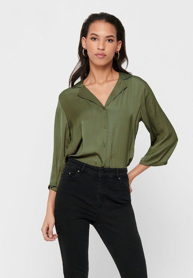 Button-down blouse - martini olive